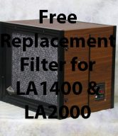 Free Replacement Filter for LA2000 or LA1400