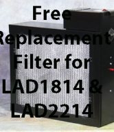 Free Replacement Filter for LAD 1814 & LAD2214
