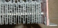 A filthy washable air filter