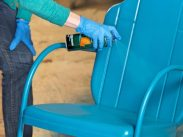 Spray painting a Chair